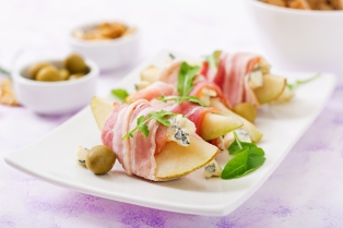 Pears Blue Cheese Prosciutto