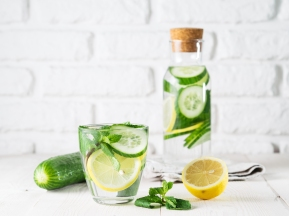 water cucumber lemon and mint (2)